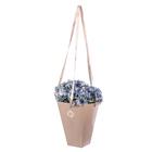 Коробка для цветов на лентах «Пастель» 33,5 х 31,5 см