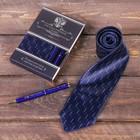 """Подарочный набор: галстук и ручка """"Государственная служба"""" - фото 8874599"""