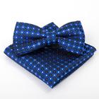 Набор детский: галстук-бабочка 10х5, платок 18х18, синий, п/э