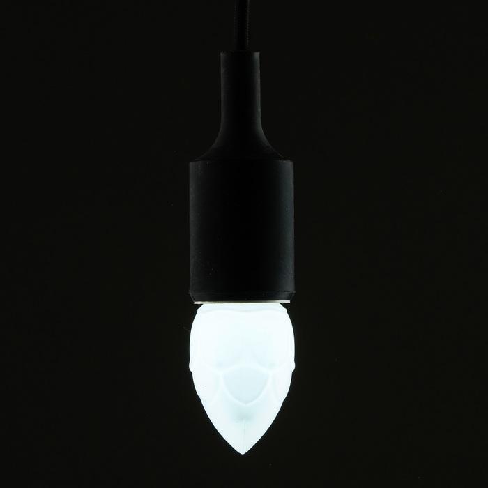 """Лампа светодиодная декоративная Luazon Lighting """"Шишка"""", 5 SMD2835, для белт-лайта, белый"""