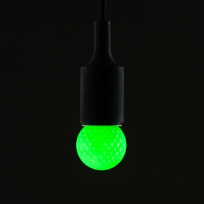 Лампа светодиодная декоративная Luazon Lighting, G45, 5 SMD2835, для белт-лайта, зеленый