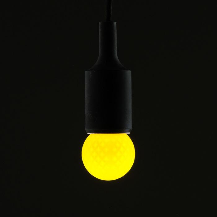 Лампа светодиодная декоративная Luazon Lighting, G45, 5 SMD2835, для белт-лайта, желтый