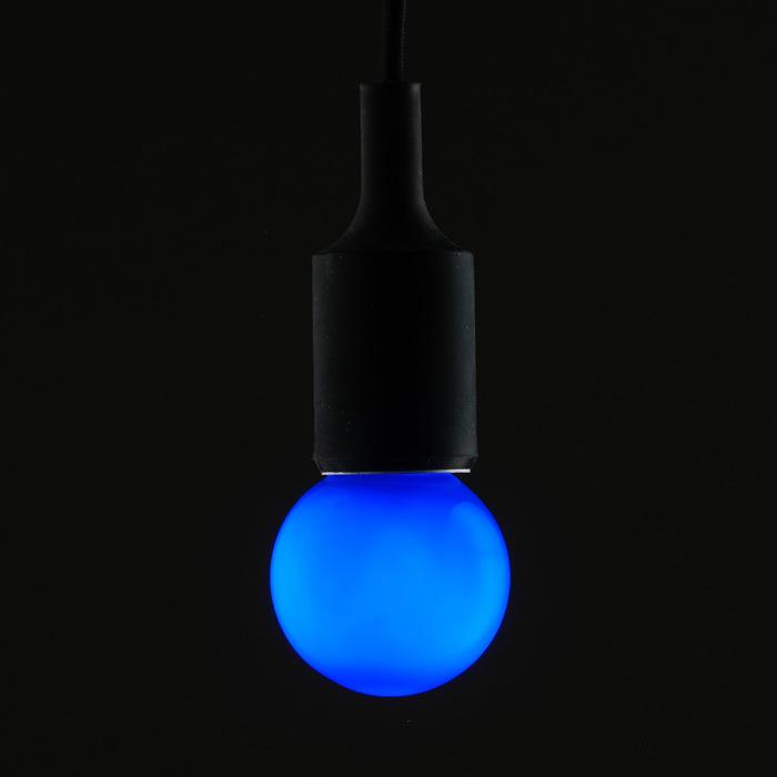 Лампа светодиодная декоративная Luazon Lighting, G60, 6 SMD2835, для белт-лайта, синий
