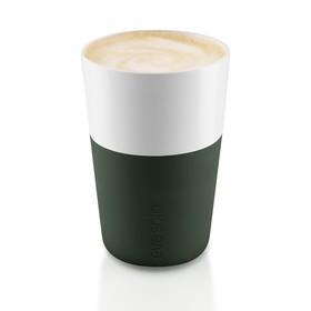 Чашки для латте, тёмно-зелёные, 2 шт.