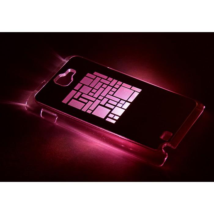 "Чехол для задней панели Samsung Galaxy Note, 9220, с подсветкой ""Геометрия"", МИКС"