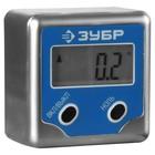 """Уровень-угломер ЗУБР """"ЭКСПЕРТ"""" 34743, электронный, магнитный, точность 0.1 градус"""