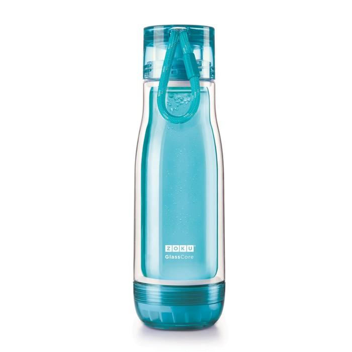 Бутылка Zoku, голубая, 475 мл