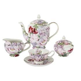"""Чайный сервиз из 15 предметов на 6 персон """"Райский сад"""", в подарочной упаковке"""