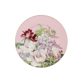 """Тарелка десертная """"Райский сад"""", розовая, в подарочной упаковке"""