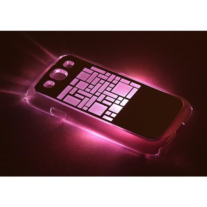 """Чехол для задней панели Samsung Galaxy S3, 9300, с подсветкой """"Геометрия"""", МИКС"""