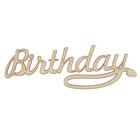 "Декоративный элемент для творчества ""Birthday"" 8,6х2,9 см (ДЕК-633)"
