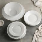 Сервиз столовый Trianon, 20 предметов, цвет белый