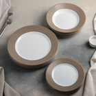 Сервиз столовый Everarty Loft, 18 предметов, цвет серый