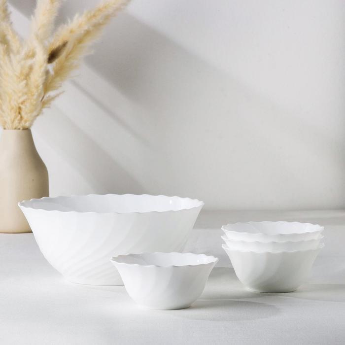 Набор салатников Trianon, 5 шт: 4 малых 12 см, 1 большой 24 см