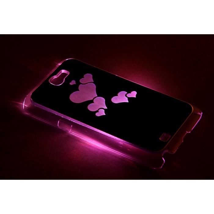 """Чехол для задней панели Samsung Galaxy Note 2, 7100, с подсветкой """"Парящие сердца"""", МИКС"""