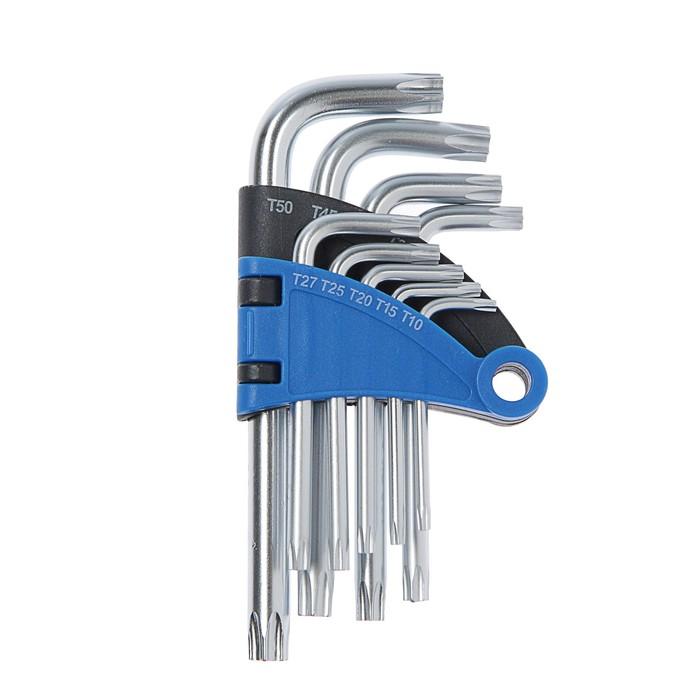 Набор ключей TUNDRA, TORX Tamper, CrV, TT10 - TT50, 9 шт.