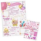 """Плакат для новорожденной """"Я родилась!"""" с наклейками"""