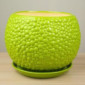 """Горшок для цветов """"Пузыри"""" лаймовый цвет, 9 л - фото 1693531"""