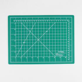 Мат для резки, двусторонний, 30 × 22 см, А4, цвет зелёный