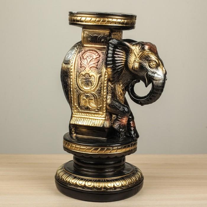 """Подставка декоративная """"Индийский слон"""", чёрная, 34 см"""