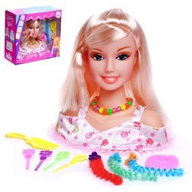 """Кукла-манекен для создания причёсок """"Красавица"""" с аксессуарами"""