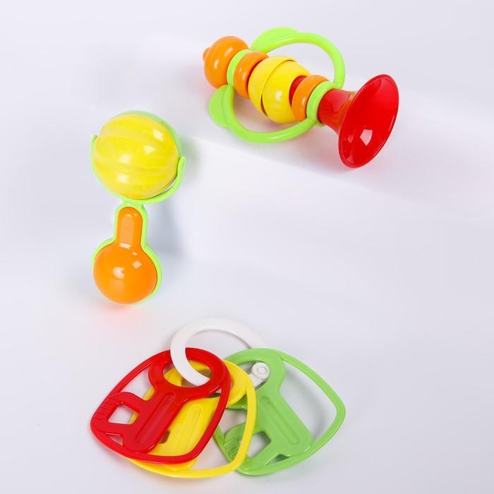 Набор погремушек «Давай играть», 3 шт. - фото 105530681
