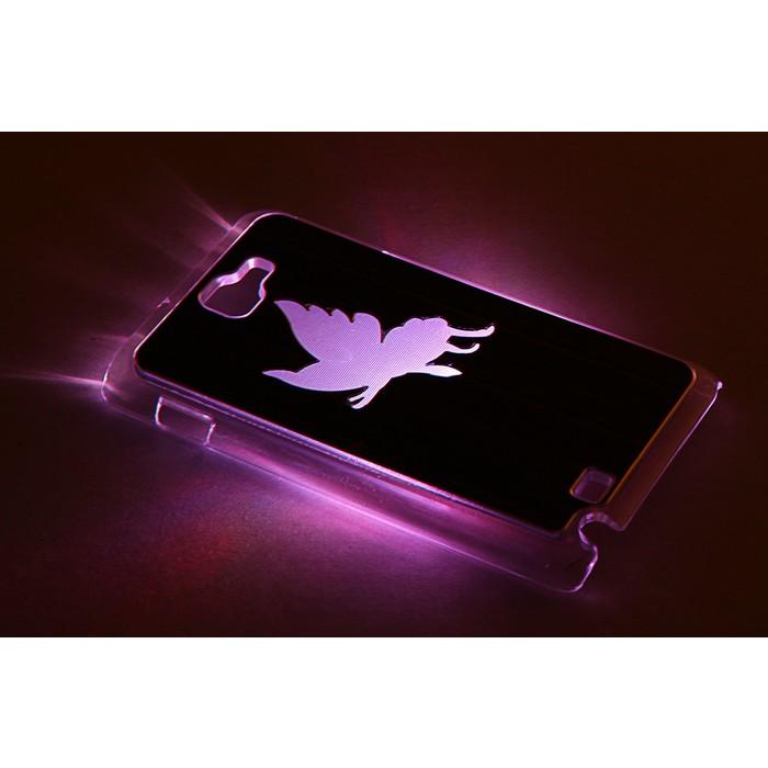 """Чехол для задней панели Samsung Galaxy Note, 9220, с подсветкой """"Бабочка"""", МИКС"""