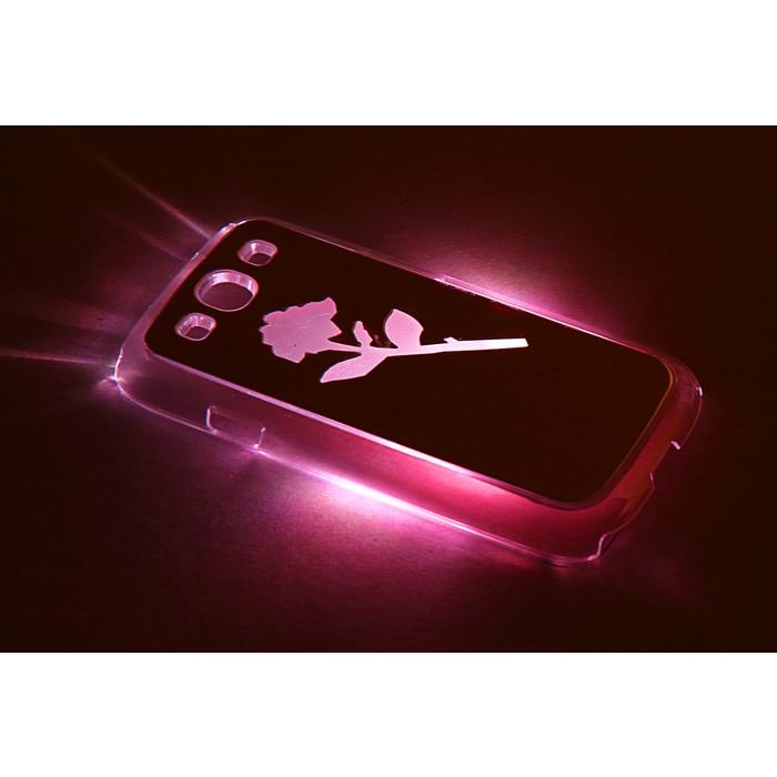 """Чехол для задней панели Samsung Galaxy S3, 9300, с подсветкой """"Цветы"""", МИКС"""