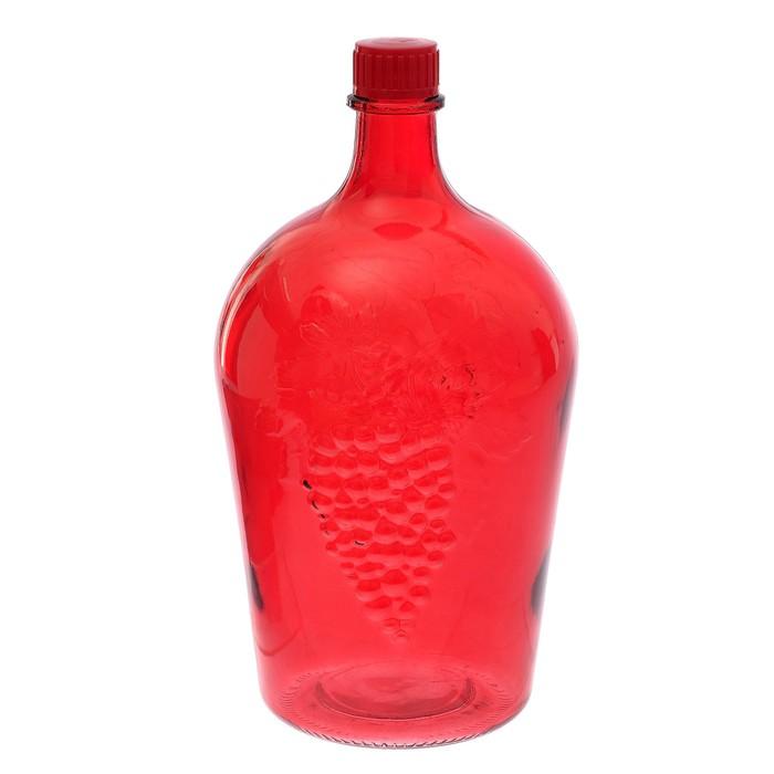 Бутылка 4,5 л «Ровоам», цвет красный