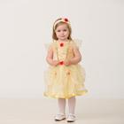 Карнавальный костюм «Принцесса Белль», текстиль, (платье, повязка), размер 26, рост 92 см