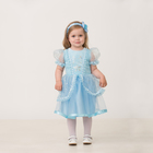 Карнавальный костюм «Принцесса «Золушка», текстиль, (платье, повязка), размер 24, рост 86 см