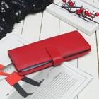 Визитница, 2 ряда, 20 листов, цвет красный