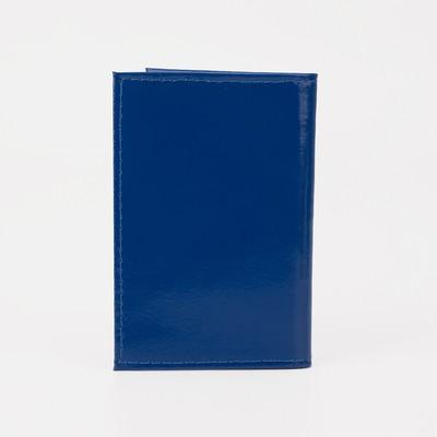 Визитница вертикальная, 1 ряд, 18 кардхолдеров, цвет синий
