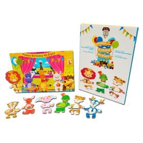 """Деревянная игрушка Mr. Bigzy магнитная игра """"День рождения жирафа"""""""