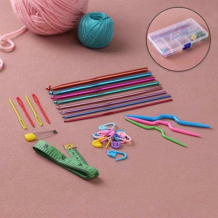 Набор для вязания, 18 предметов, в футляре