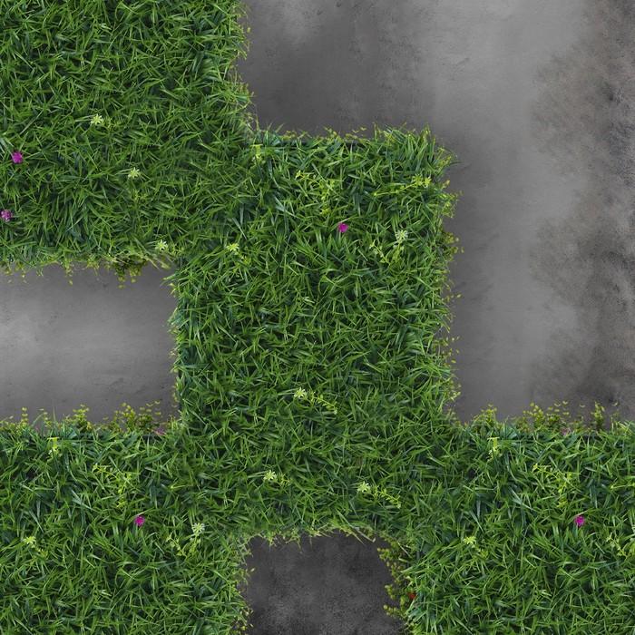 Газон-коврик искусственный, 40 х 60 см, «Цветочный луг»