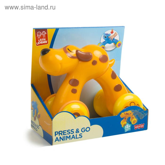 """Инерционная игрушка """"Нажми и поедет"""" - Щенок"""