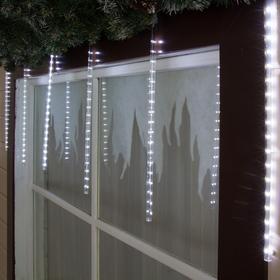 """Гирлянда """"Сосульки тающие"""" 8 штук, Ш:2,4, В:0,5 м, 2W УМС, Н.С. LED-384-220V, свечение белое"""