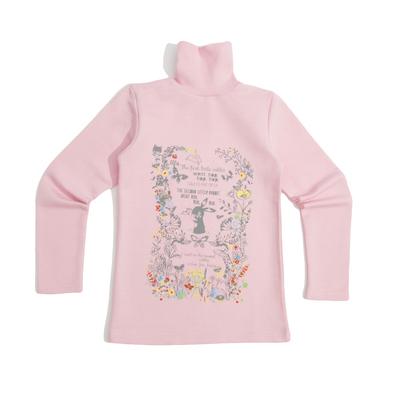 Водолазка для девочки, рост 128-134 (36) см, цвет розовый