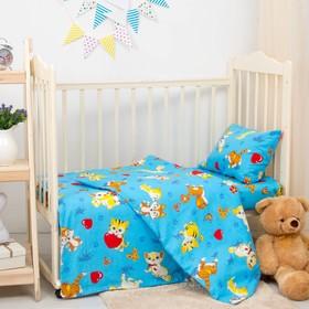 Детское постельное бельё «Мурзик», гол. 140х110 см, 110х140, 40х60 см бязь