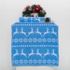 """Полотенце махровое """"Олени""""  70х140 см, голубой синий+отбелка 08, 420 г/м2,хлопок 100%"""