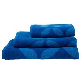 Полотенце махровое Sea color ПЛ-3502-03090, 70х130,цв.10000, синий, хл.100%, 360 г/м2