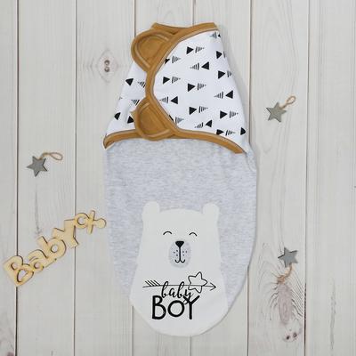 "Пеленка-кокон Крошка Я ""Baby bear"", рост 50-62см (0-3мес)"