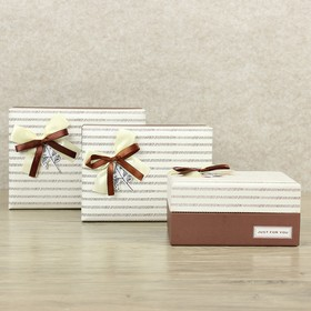 Set boxes 3in1, 21 x 16.5 x 10.5 - 16 x 12 x 8 cm