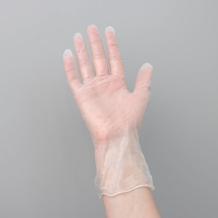 Перчатки виниловые одноразовые неопудренные S 100 шт/кор