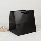 Пакет подарочный, чёрный, 30 х 30 х 30 см