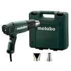 Фен Metabo HE 20-600, 2000 Вт, t=50/50-600°C, 2.2 м кабель, кейс, 2 насадки