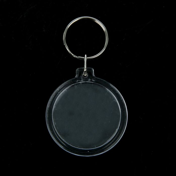 Key chain capsule printing insert the Circle