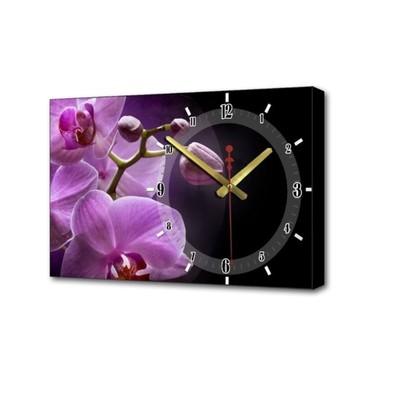 """Часы настенные, серия: Цветы, """"Розовые орхидеи"""", 37х60  см, микс"""