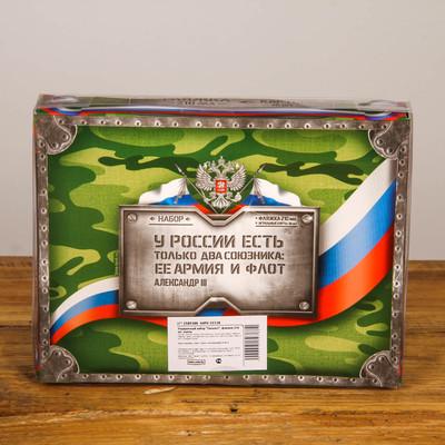 """Подарочный набор """"Танкист"""", фляжка 210 мл, карты (36 шт.)"""